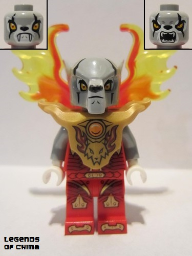 Lego 1 Trans Red with Trans Yellow wing flame NEW