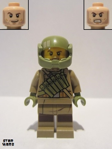 LEGO Resistance Trooper minifigure SW0892 new. from 75202 Defense of Crait