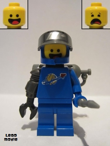 Lego New Blue Minifigure Torso Space Classic Moon with Simulated Wear Pattern